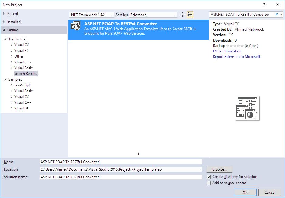 ASP NET SOAP To RESTful Converter - Visual Studio Marketplace